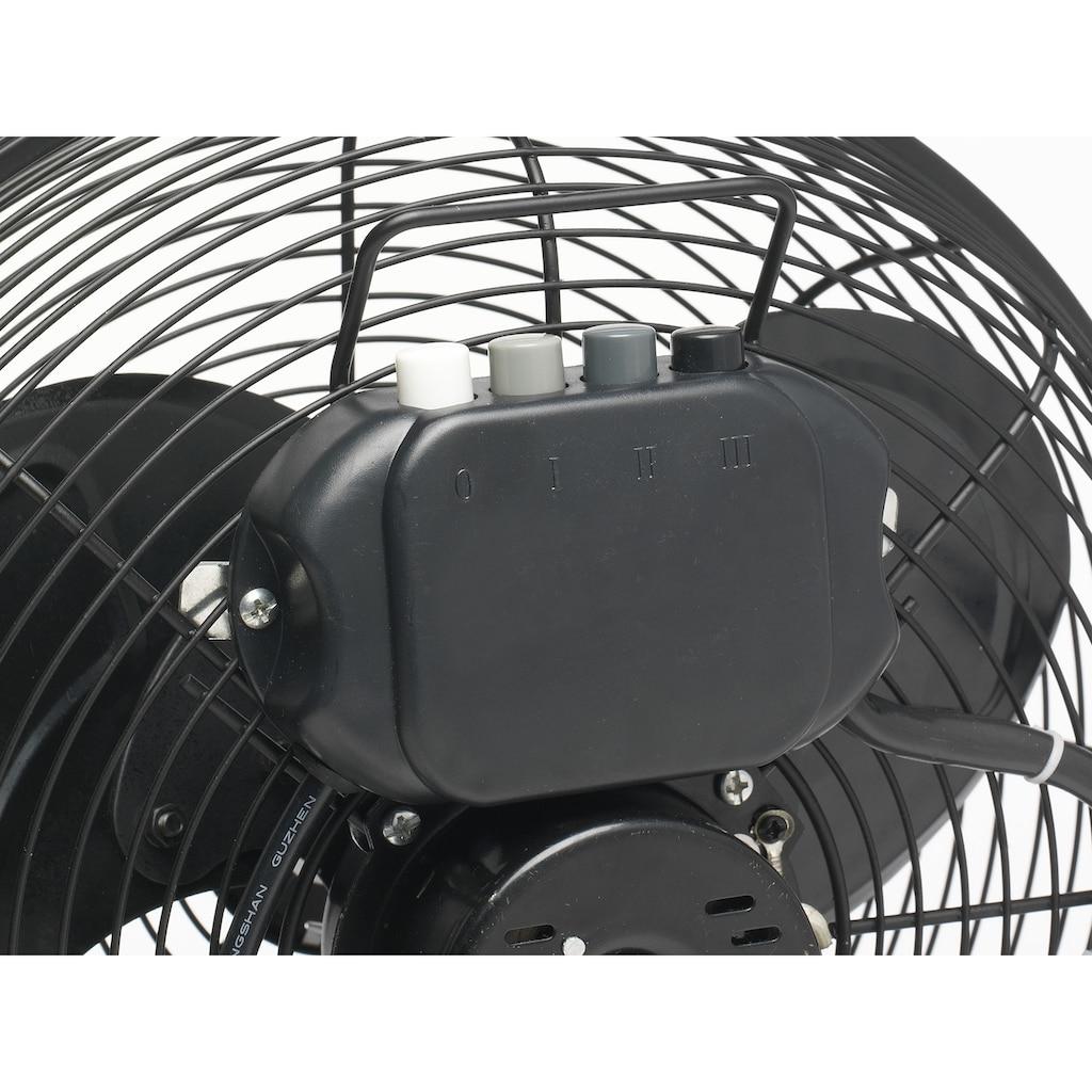 bestron Bodenventilator »im Retro-Stil«, Vertikal verstellbar, Höhe: 39 cm, Ø 35 cm, 55 W, Schwarz