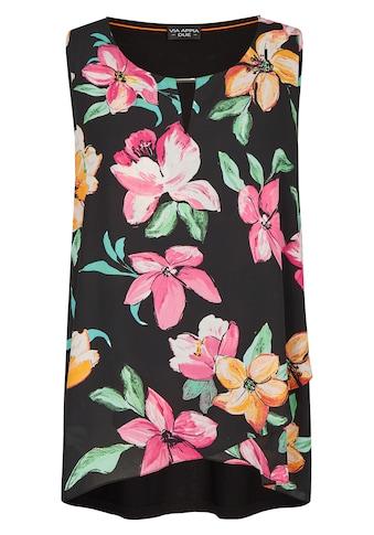 VIA APPIA DUE Ärmellose Bluse mit Allover-Blumen-Print kaufen