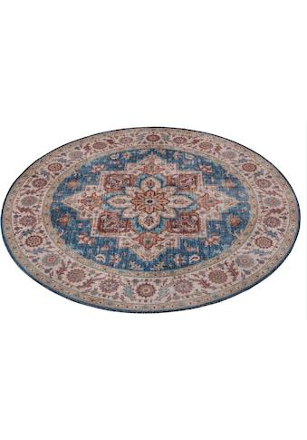 NOURISTAN Teppich »Anthea«, rund, 5 mm Höhe, Vintage Design, Orient-Optik, Wohnzimmer kaufen