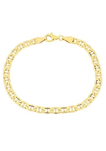 Firetti Armband »Stegpanzerkettengliederung, 4,8 mm, glänzend, 2 - fach diamantiert« kaufen
