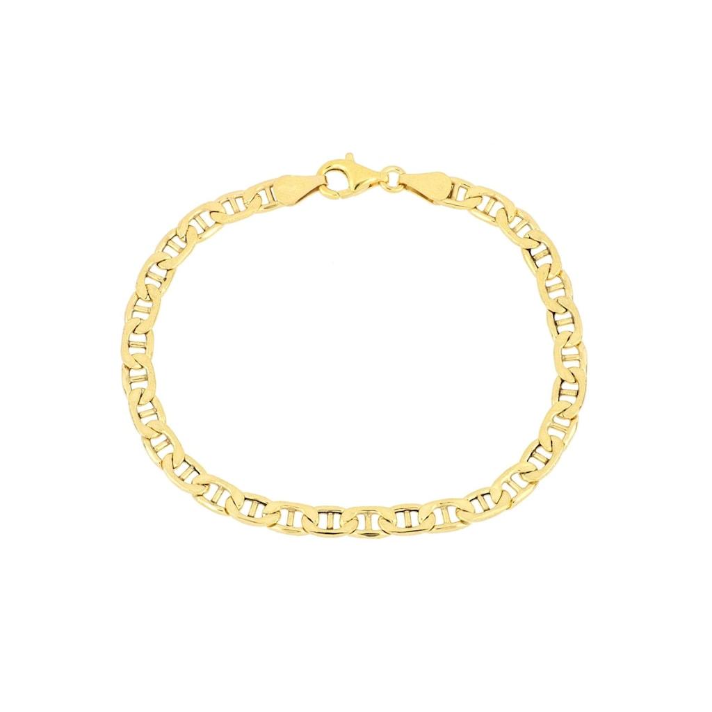Firetti Armband »Stegpanzerkettengliederung, 4,8 mm, glänzend, 2-fach diamantiert«