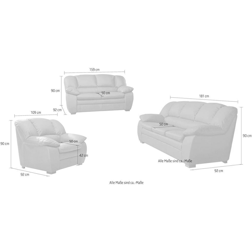 COTTA Polstergarnitur, (Set, 3 tlg.), Garnitur: Sessel, 2-Sitzer, 2,5-Sitzer