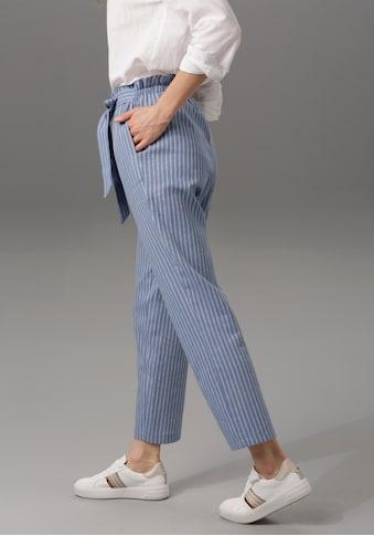 Aniston CASUAL Paperbag-Hose, mit Leinen kaufen