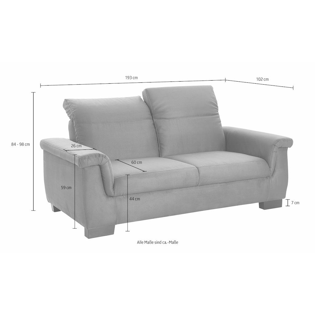 DOMO collection 2-Sitzer »Sully Top«, wahlweise mit Rückenverstellung