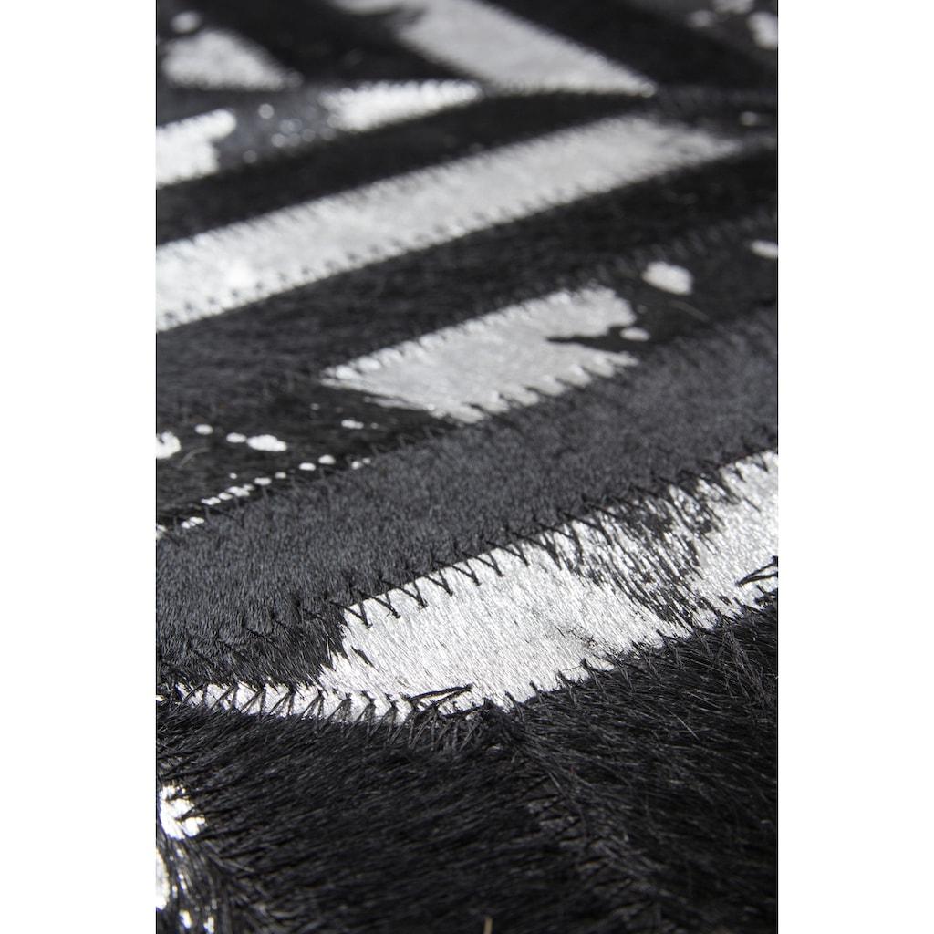 Leonique Lederteppich »Faris«, rechteckig, 8 mm Höhe, echt Leder, Wohnzimmer