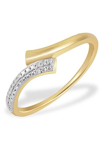 goldmaid Damenring Bicolor 585 Gelbgold 3 Diamanten 0,01 ct. SI/H kaufen