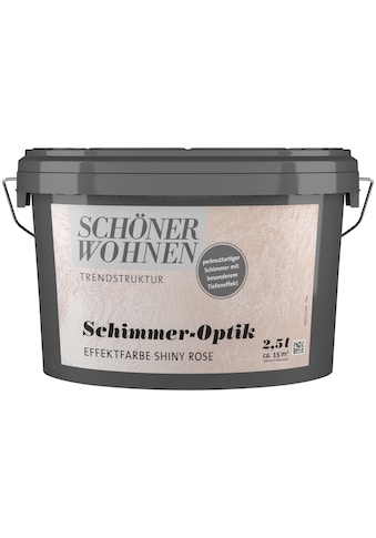 SCHÖNER WOHNEN-Kollektion Wandfarbe »Schimmer-Optik Effektfarbe shiny-rose«, glänzend... kaufen