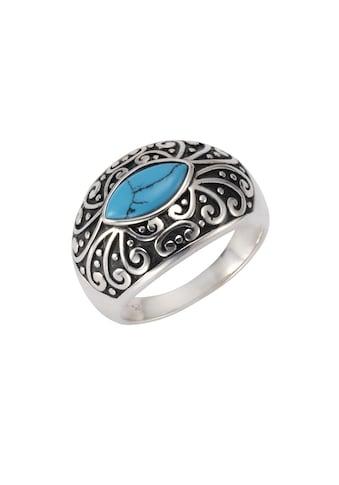 Zeeme Silberring »925/- Sterling Silber oxidiert Türkis« kaufen