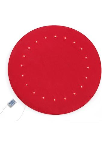 Baumteppich »Filzoptik«, rund, 4 mm Höhe, Ø 90 cm, mit LED-Beleuchtung kaufen
