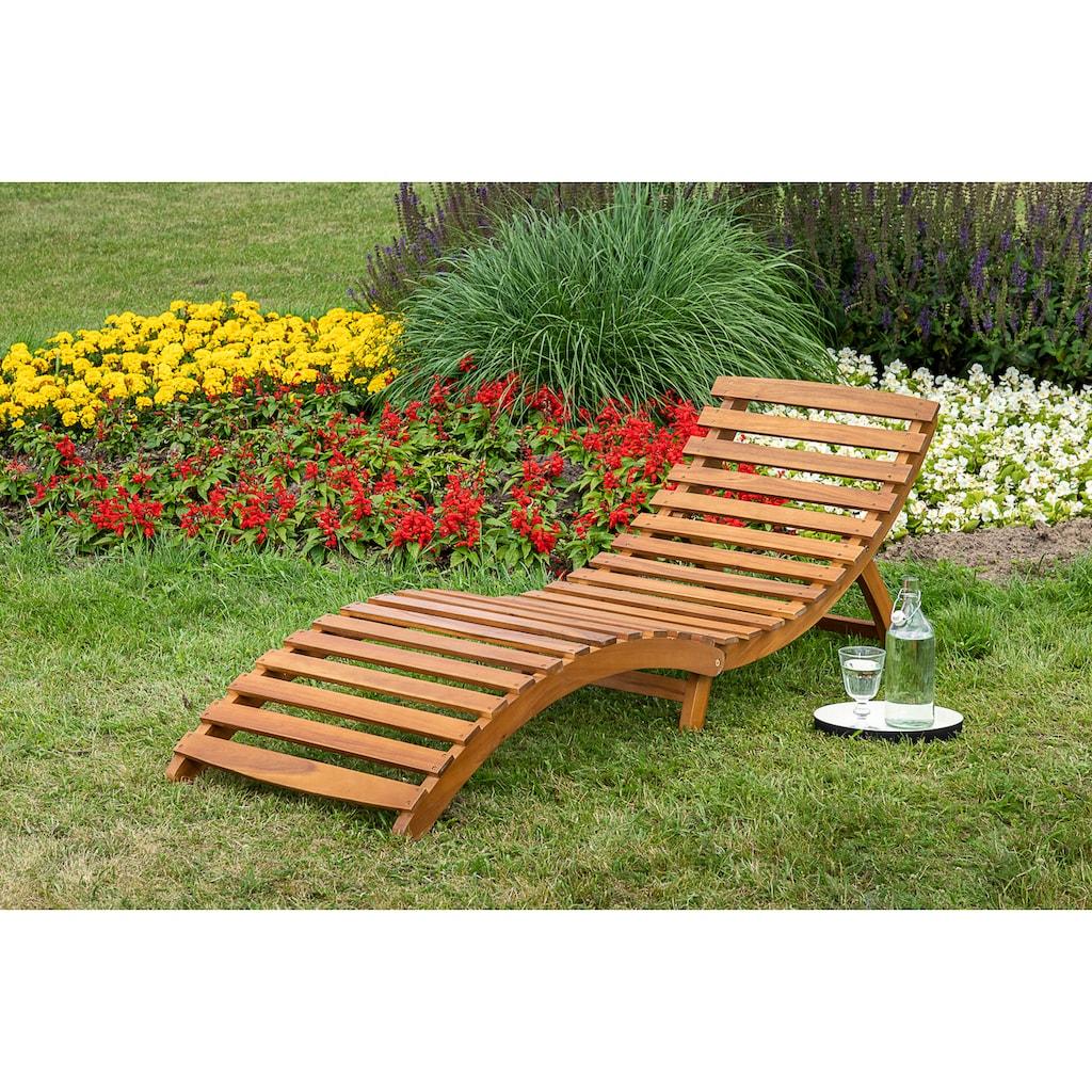 MERXX Gartenliege »Honopu«, mit Auflagen, klappbar