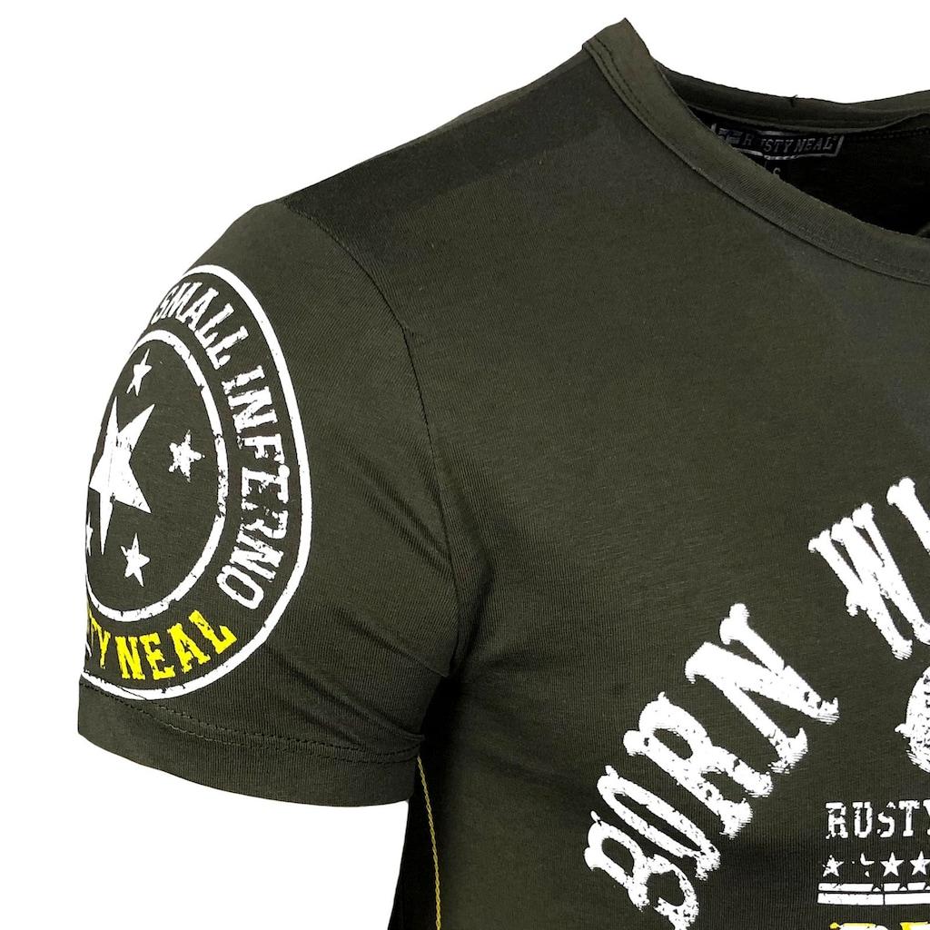 Rusty Neal T-Shirt mit Label-Print