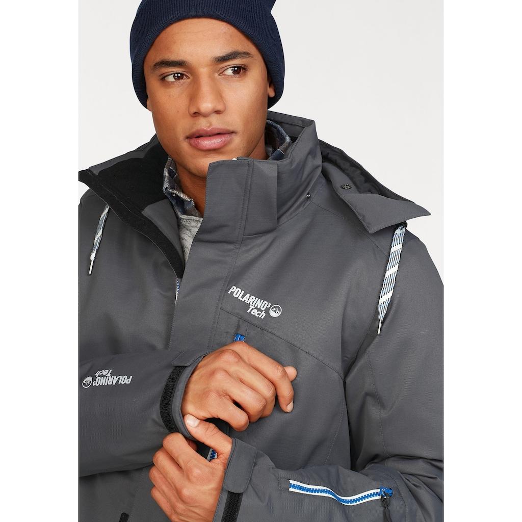 Polarino Skijacke, mit kontrastfarbigen Details