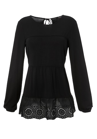Aniston CASUAL Shirtbluse, mit hochwertiger Spitze am Saum kaufen