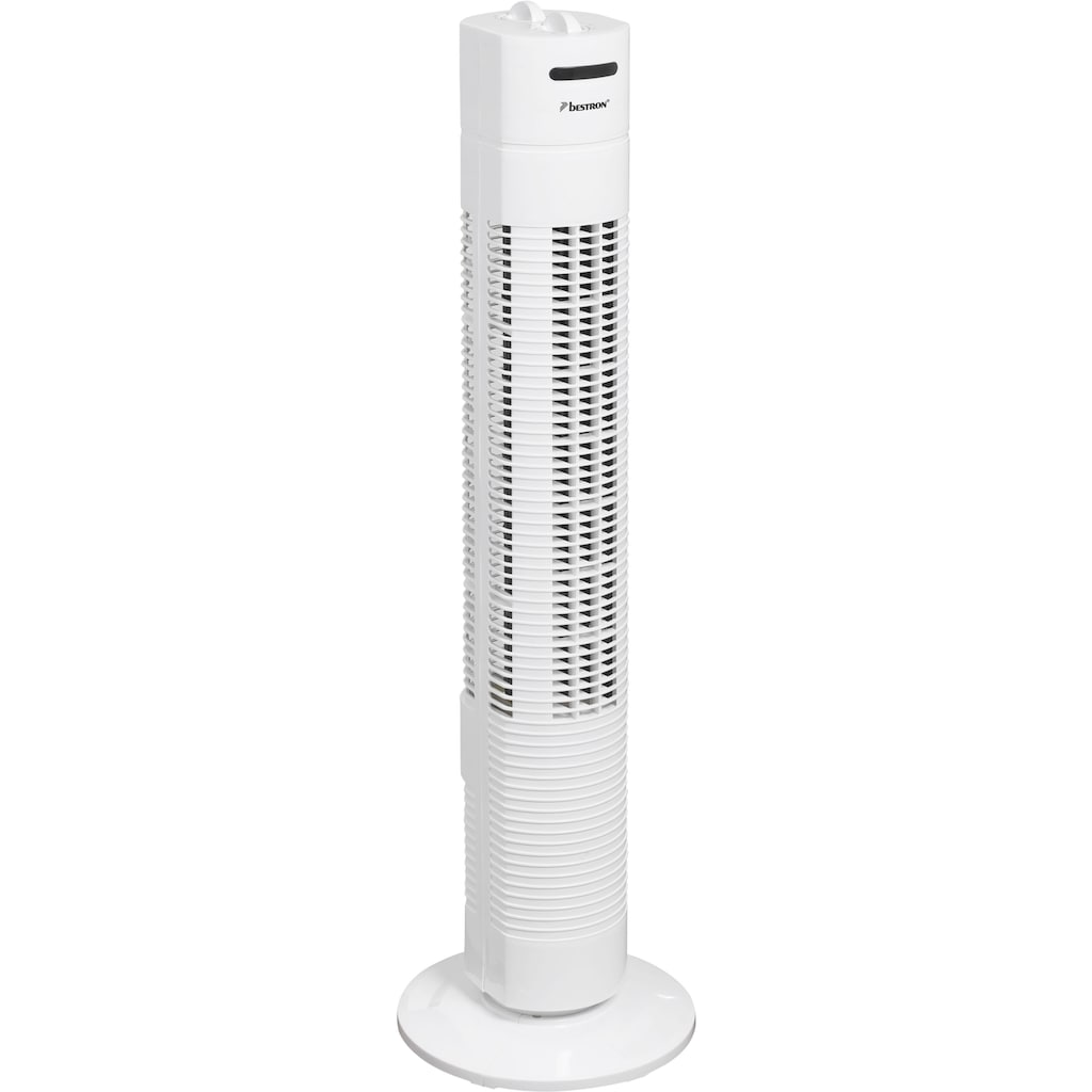 bestron Turmventilator »mit Schwenkfunktion«, Höhe: 75 cm, 50 W, Weiß