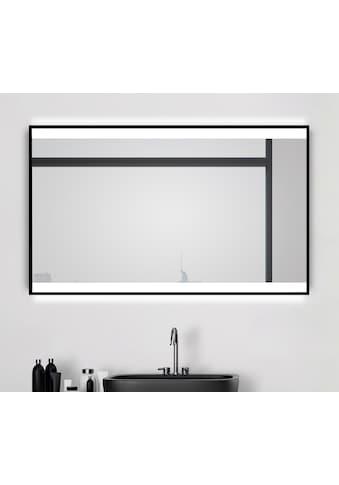 Talos Badspiegel »BLACK SHINE«, (Komplett-Set), BxH: 120x70 cm, energiesparend und... kaufen