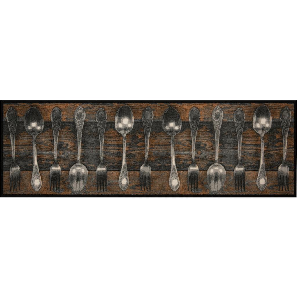 Zala Living Küchenläufer »Fork & Spoon«, rechteckig, 5 mm Höhe, In- und Outdoor geeignet, waschbar