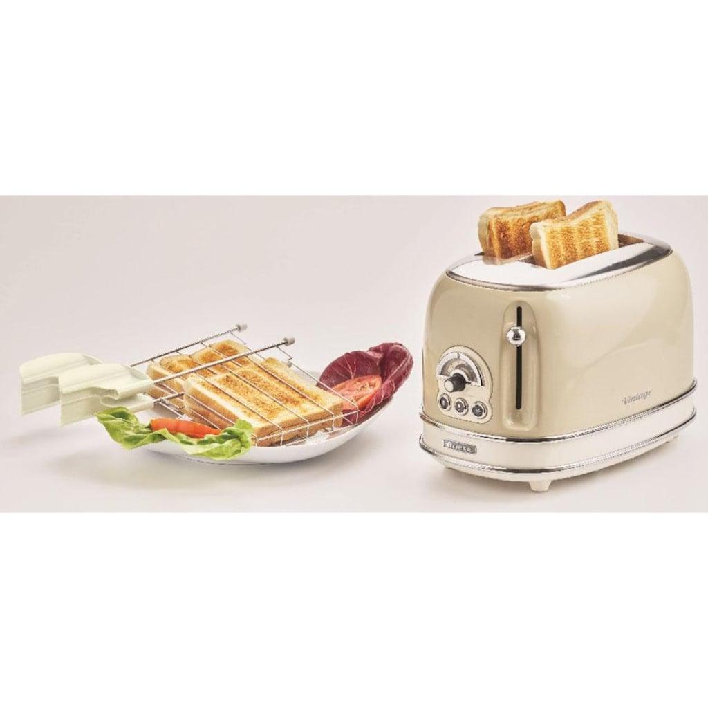 Ariete Toaster »Vintage«, 2 kurze Schlitze, für 2 Scheiben, 815 W, creme
