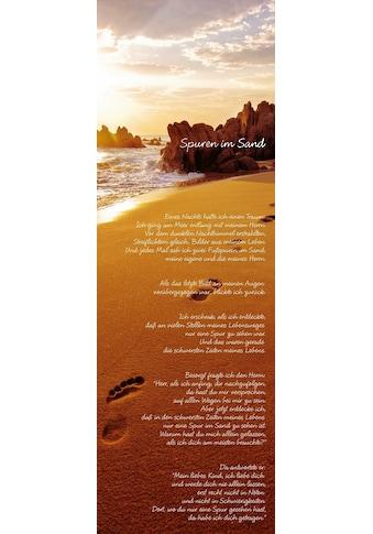 Home affaire Bild »Spuren im Sand« kaufen