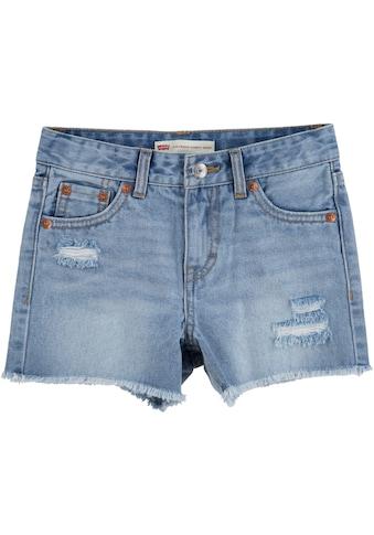 Levi's Kidswear Jeansshorts, mit leicht ausgefranstem Saumabschluss kaufen