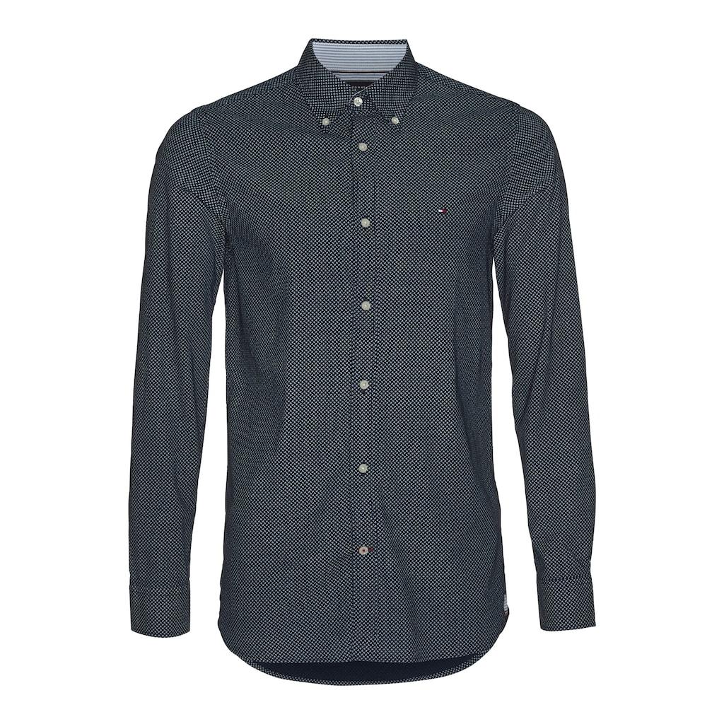 Tommy Hilfiger Langarmhemd »SLIM MICRO PRINT TWILL SHIRT«