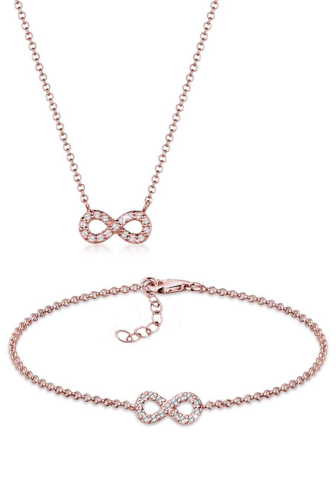 Elli Schmuckset »Set  Infinity Swarovski® Kristalle 925 Silber« (Set, 2 3b93eaae13