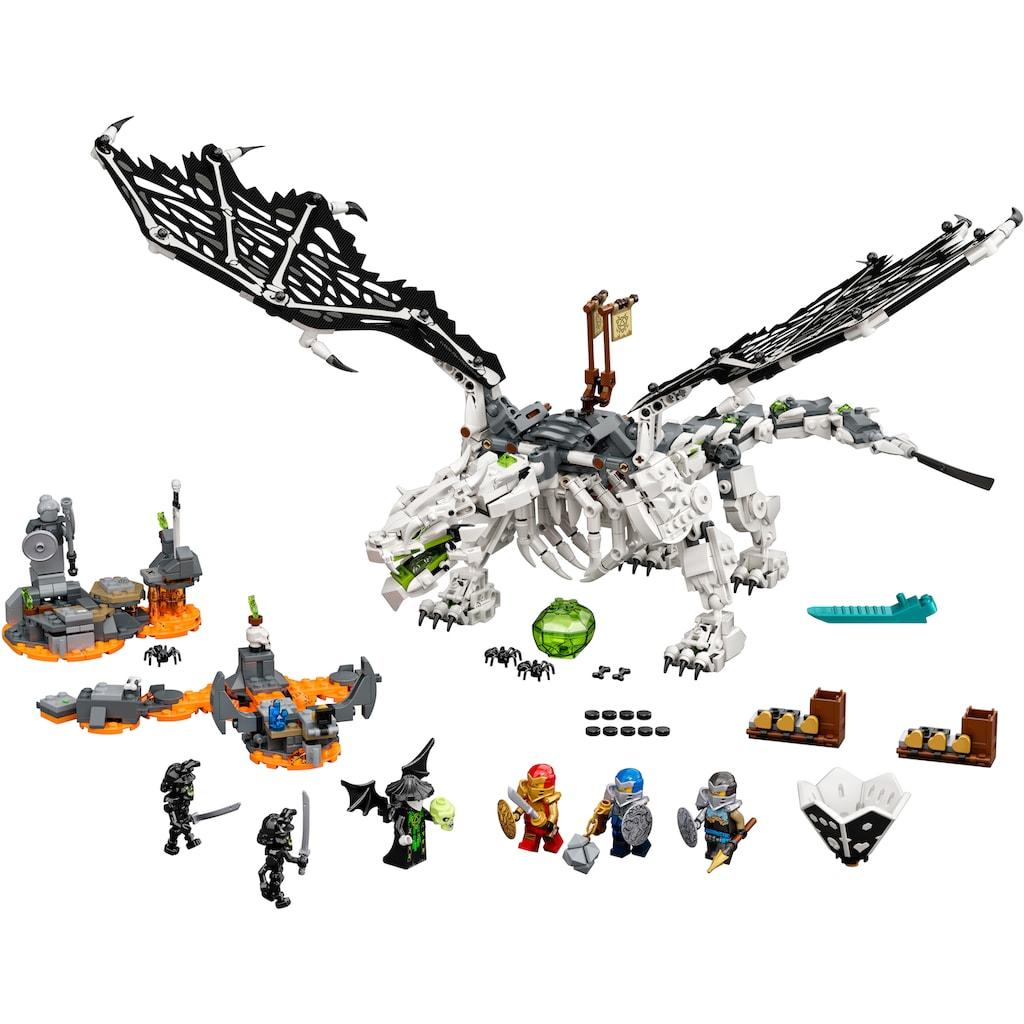 LEGO® Konstruktionsspielsteine »Drache des Totenkopfmagiers (71721), LEGO® NINJAGO®«, (1016 St.), auch als Brettspiel verwendbar