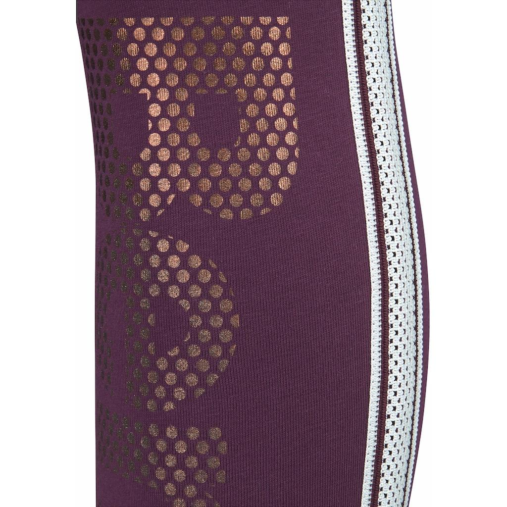 Bench. Leggings, mit Logodruck in Metalloptik