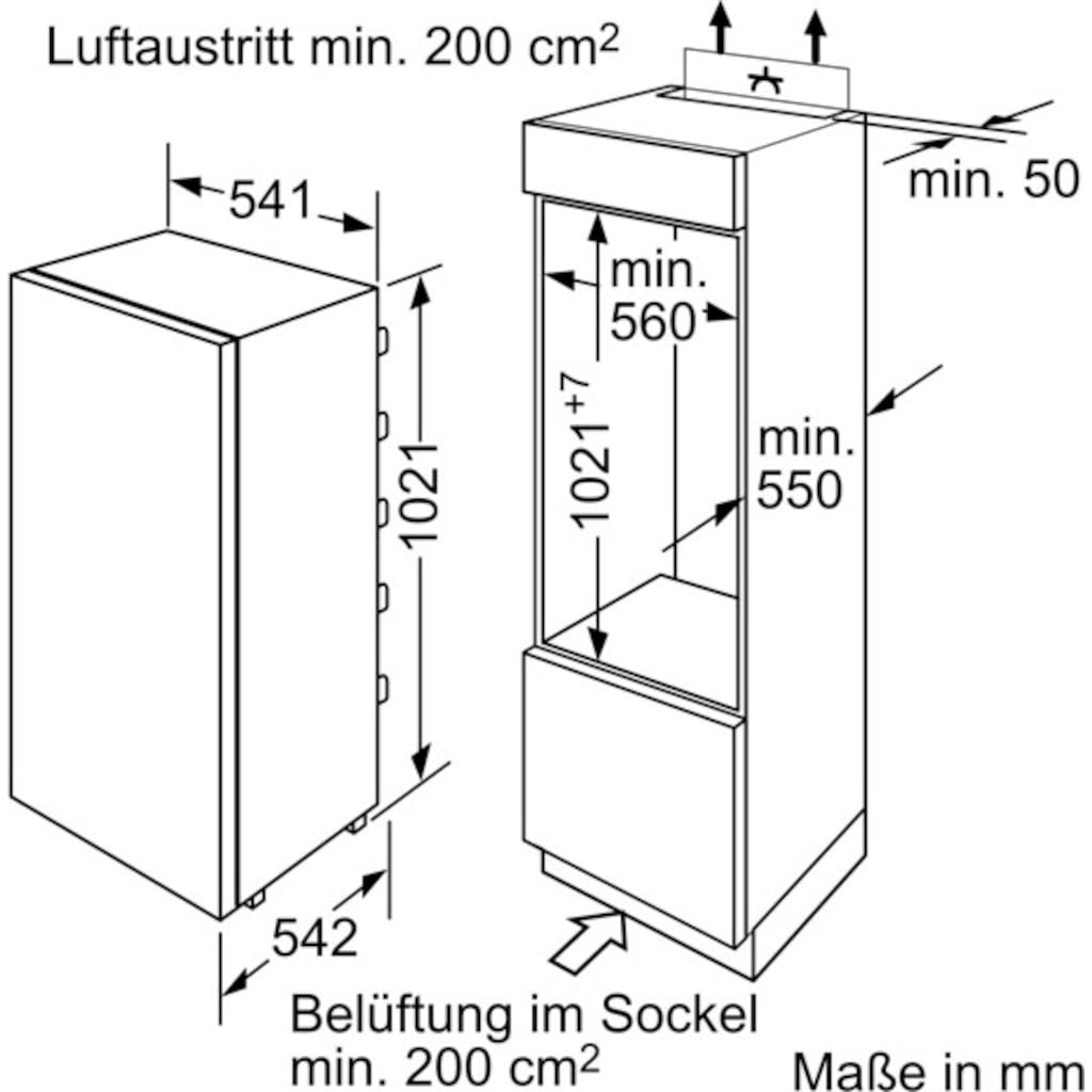 BOSCH Einbaukühlschrank »KIL20NFF0«, 2