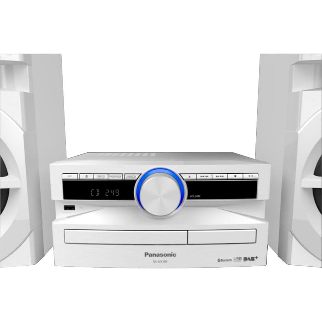 Panasonic Microanlage »SC-UX104«, (Bluetooth Digitalradio (DAB+) 300 W)