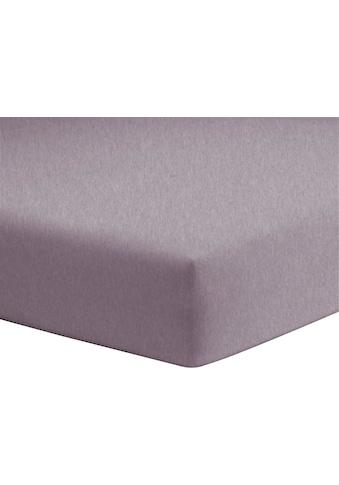 Schlafgut Spannbettlaken »Melange Uni«, passend zu Bettwäsche und Kissenbezug kaufen