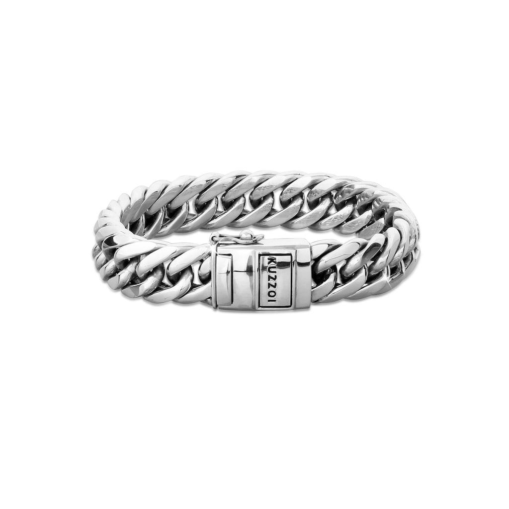 Kuzzoi Armband »Herren Panzerarmband Kastenverschluss 925er Silber«