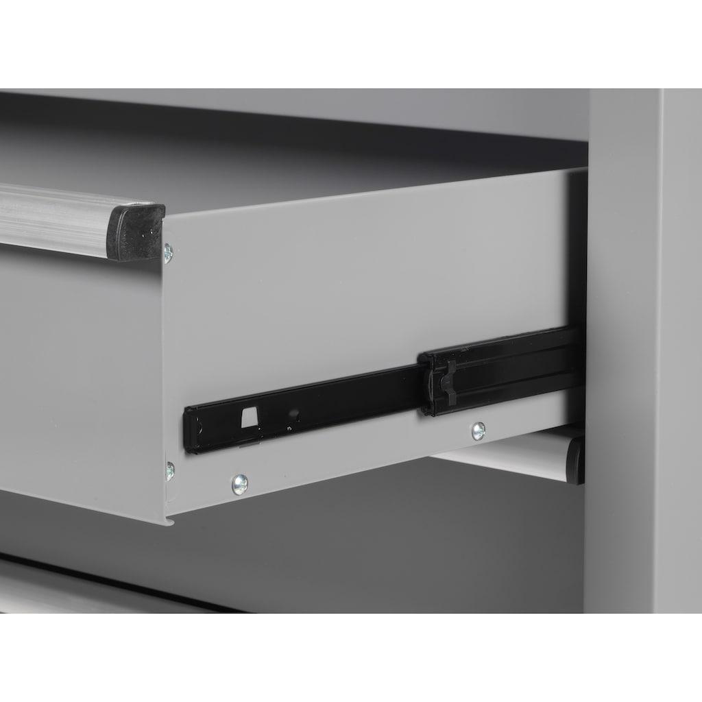 Profiwerk Werkstattwagen »Miami II«, 6 Schubladen, inkl. Lochwand & Hakenset, zur Selbstmontage