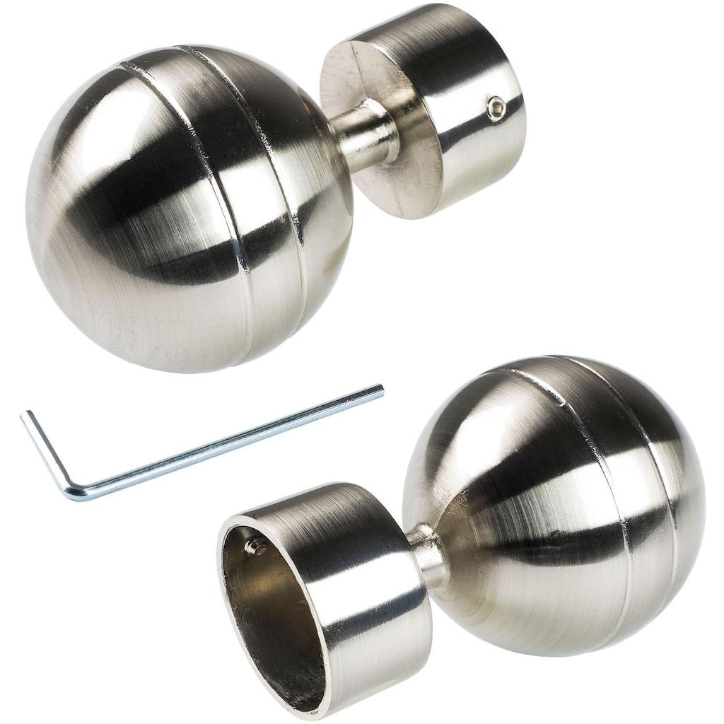 Liedeco Gardinenstangen-Endstück »Kugel«, für Gardinenstange Ø 28 mm