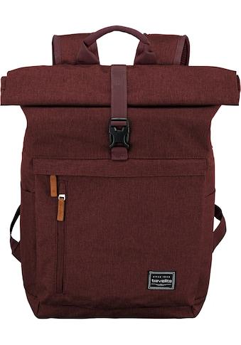 travelite Laptoprucksack »Basics Rollup, bordeaux« kaufen