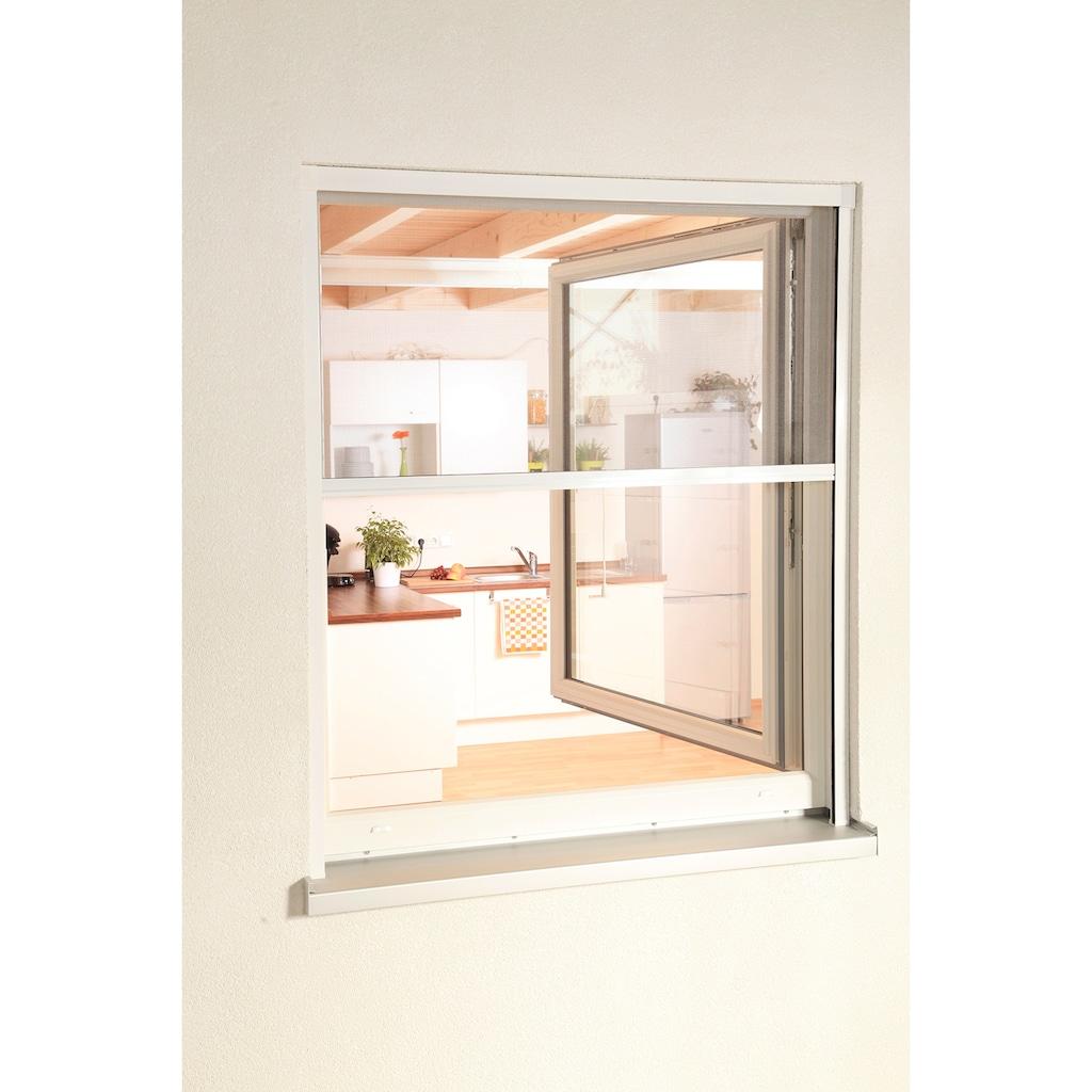 hecht international Insektenschutz-Rollo »SMART«, für Fenster, weiß/anthrazit, BxH: 100x160 cm