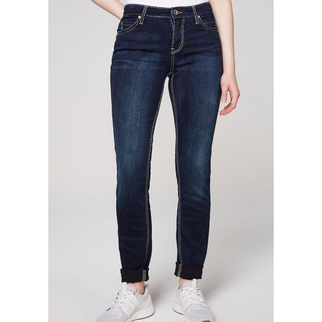 SOCCX Skinny-fit-Jeans, mit kontrastfarbenen Nähten