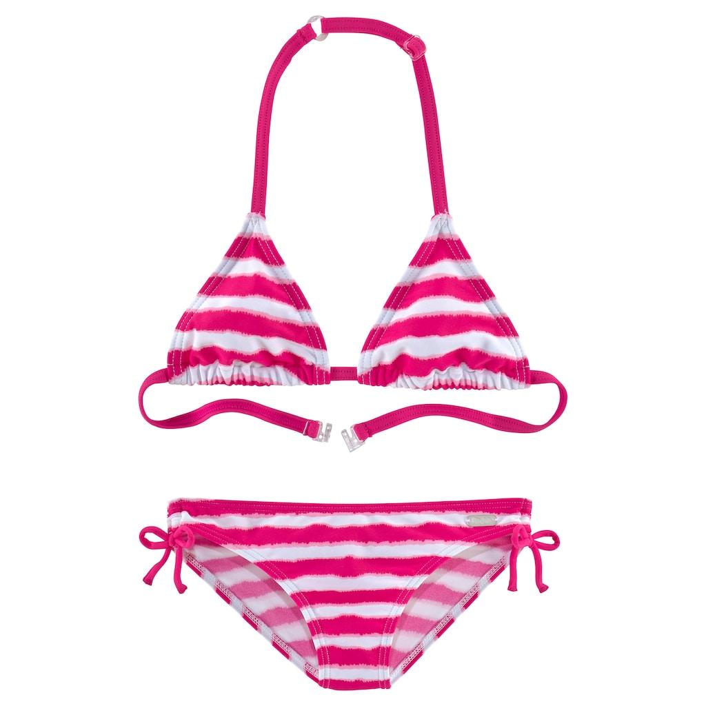 Buffalo Triangel-Bikini, in trendiger Streifen-Optik