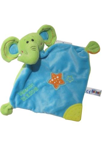 Heunec® Schnuffeltuch »Elefant«, mit Rassel und Beißelement und individueller Bestickung kaufen