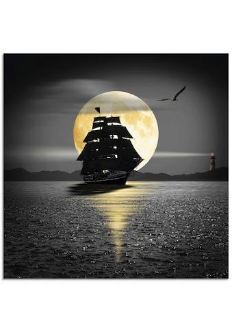 Artland Glasbild »Ein Schiff mit schwarzen Segeln«, Boote & Schiffe, (1 St.) kaufen