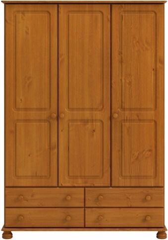 Home affaire Kleiderschrank »Richmond«, mit 3 Türen und 4 Schubladen, Breite 129 cm kaufen