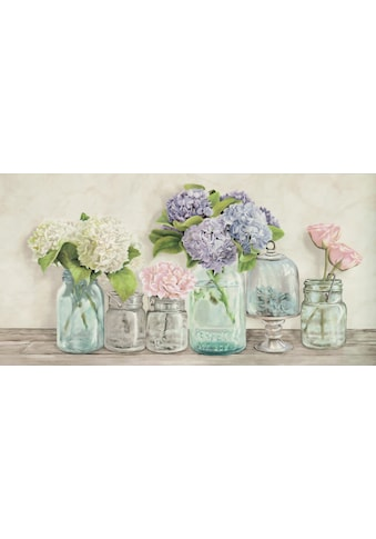 Home affaire Deco-Panel »JENNY THOMLINSON / Blumen in Gläser«, (100/3/50 cm) kaufen