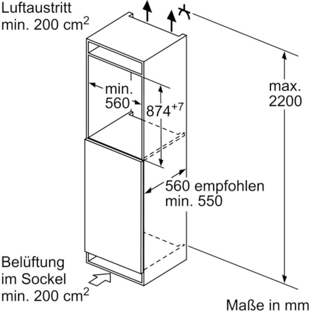 BOSCH Einbaukühlschrank »KIL22AFE0«, 6