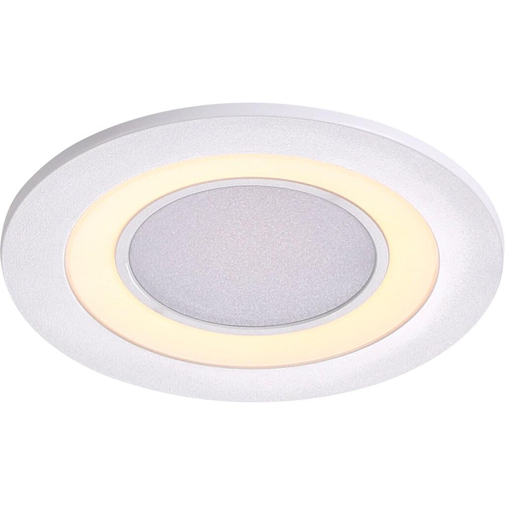 Nordlux LED Einbaustrahler »2er Set Clyde 8«, LED-Board, Warmweiß, Einbauleuchte mit integriertem Dimmer