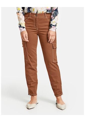 GERRY WEBER Hose Jeans verkürzt »Cargohose mit Kontraststepp« kaufen