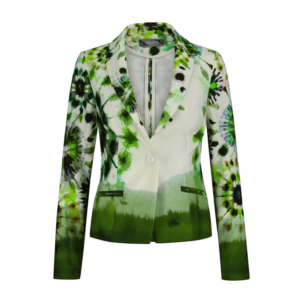 Nicowa Extravaganter Blazer ENEVA mit Batik-Design