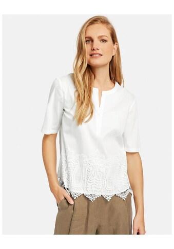 GERRY WEBER Bluse 1/2 Arm »1/2 Arm Bluse mit Spitzenbesatz« kaufen