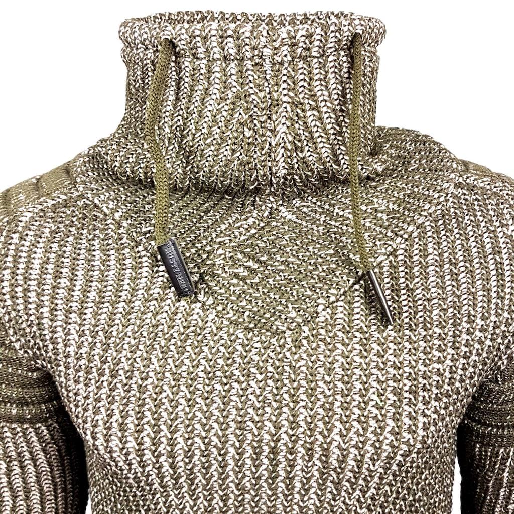 Rusty Neal Strickpullover mit hohem Kragen