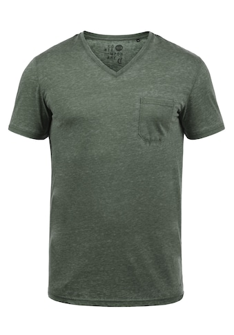 Solid V-Shirt »Theon«, Kurzarmshirt mit V-Ausschnitt kaufen
