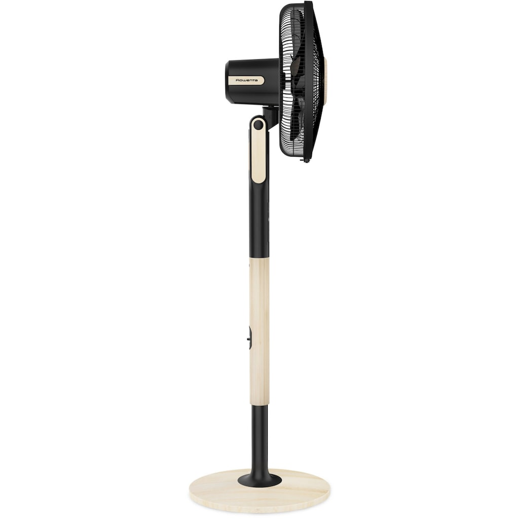 Rowenta Standventilator »Turbo Silence Extreme+ VU5880«, Holzoptik; 5 Geschwindigkeiten; Fernbedienung; Energiesparmodus; Abschaltautomatik; Timer