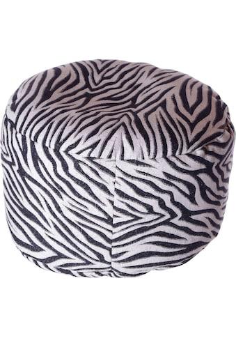 Home affaire Pouf »Zebra«, 47/34 cm kaufen